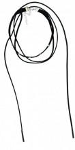 B-B23.3 Choker Necklace Bars Silver 37-42cm