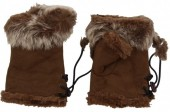 J-C3.2 Hand Warmers with Fur Brown