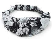 T-A2.1  H034-008 Headband with Snake Print Grey