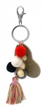 G-D7.1 KY520-002 Bag -Key Chain Tassels-Pompons-Heart and Shells
