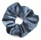 S-B7.5  H305-009 Scrunchie Velvet Dark Grey