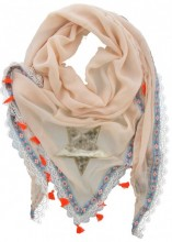 S-G4.3 Triangle Scarf with Star and Tassels 160x80cm