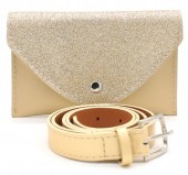Q-I3.2 WA1202-025 Belt Purse - Festival Musthave with Glitters 17x11cm including belt Gold