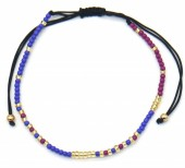 C-A20.1 B2039-014E Bracelet with Glass Beads Purple-Blue