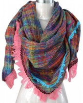 R-D7.1 Trendy Tweed Look Scarve with Tassels 200x75cm