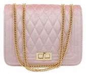 Y-E2.3 BAG122-004 Trendy Velvet Shoulder Bag Pink