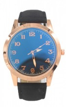 WA204-001 Quartz Watch with PU Strap Rose Gold-Black