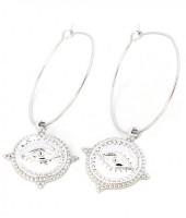 E-A19.3 E304-001 Hoop Earrings with Eye Silver