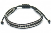 F-A2.1 B2030-001A Bracelet with Faceted Glassbeads Black