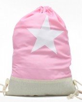 Y-C5.2  BAG325-001 Backpack with Star 50x33cm Pink