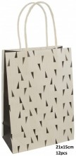 Q-H8.1 PK525-008A Paper Giftbag 21x15cm Black 12pcs