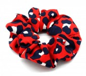 S-A6.2  H002-014 Scrunchie Animal Print Red