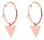 A-D15.5 E015-012SB Stainless Steel Earrings 25mm Triangle Rose Gold