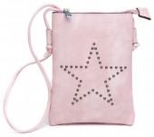 Q-M5.2 BAG012-005 PU Crossbody Bag with Studded Star 20x15cm Pink