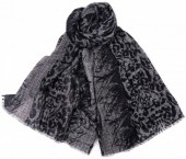 X-C8.2 Scarf with Leopard Print 180x90cm Grey