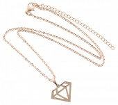 C-A6.4  41-48cm Stainless Steel Rose Gold N099-002A Diamond