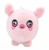 Z-F6.2 TOY308-001C Plush Squishy Pig 8x8 cm