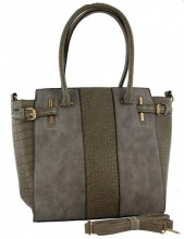 Z-B3.3 BAG016-001 Grey Exclusive PU Bag 42x30x14cm