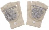 I-B17.2  Kids Gloves with Flower White