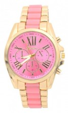 D-F19.1 W123-003 Metal Watch Gold-Pink