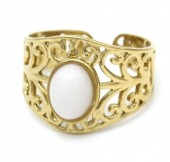 D-A8.1 R110221G S. Steel Ring Stone Adjustable Gold