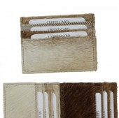 E-D16.3 Leather Cowhide Card Holder 11x8.5 cm color mixed