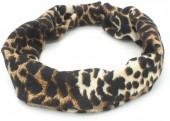 S-I7.3 H038-001 Headband with Animal Print Brown