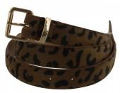 I-E8.2 BELT002-003 PU Belt with Leopard Print Brown 105cm