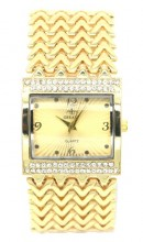 A-E22.1 WA523-006 Quartz Watch Metal with Crystals 30mm Gold