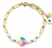 F-C16.1 B2126-022G S. Steel Bracelet Heart and Pearls GoldF-C16.1 B2126-022G S. Steel Bracelet Heart and Pearls Gold