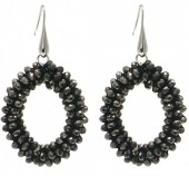 C-B15.2 E007-001 Facet Glass Beads 4.5x3.5cm Grey