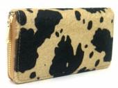 R-L6.1  WA531-002A PU Wallet Faux Cowhide 19x10cm Light Brown