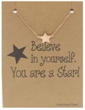 E-E19.2 B015-008 Stainless Steel Bracelet Star Rose Gold