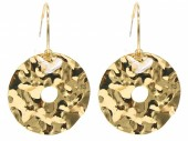 C-A23.2 E2019-041G Earrings 4cm Coin 2.5cm Creoles Gold