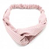 S-B7.3  H305-004 Headband Polka Dots Pink