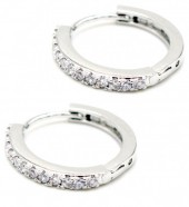 A-A4.3 E1929-003S Earrings with Cubic Zirconia Silver