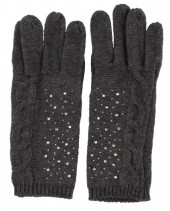 S-D5.2 Gloves with Crystals Grey