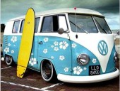 R-C7.1 S302A Diamond Painting Surfboard Van 50x40cm