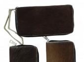 S-B3.4 Leather Cowhide Wallet Dark 22x11.5cm