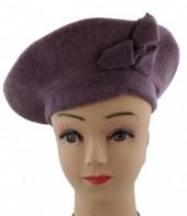 S-D6.3 Trendy Woolen Baret Purple