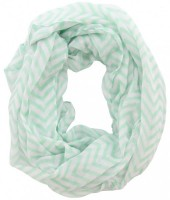 X-C3.2  Loop Scarf with Lines Green