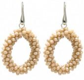 B-B15.3  E007-001 Facet Glass Beads 4.5x3.5cm Light Brown