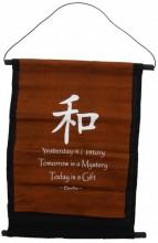 S-F2.1 Cotton Banner Budha Quote 48x33cm