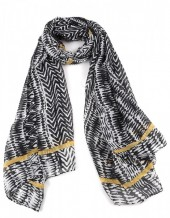 S-G6.4 S313-003 Striped Scarf 90x180cm