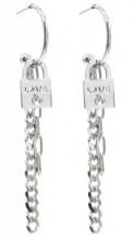 B-B16.1 E010-030S S. Steel Earrings Love Lock  2x7cm