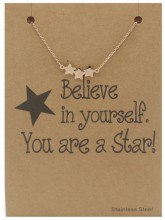 E-D3.3 B015-002 Stainless Steel Bracelet Stars Rose Gold