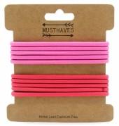 H-E21.1 H016-017C Elastics 10pcs Pink