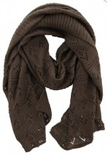 Y-B4.1 Knitted Scarf with Glitters 65x190cm Brown
