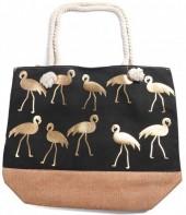 Y-D4.1 BAG530-002 Beach Bag Flamingo Green