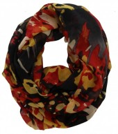 X-D4.1 Cowl-Loop Scarf Camouflage Print Yellow-Red